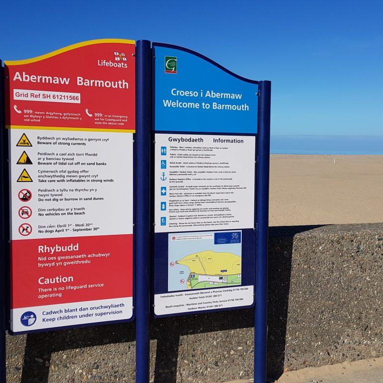 Barmouth Lifeboat Signage